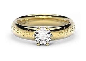 Classic Elvish Engagement Ring, ~.50ct 14ct Yellow Gold