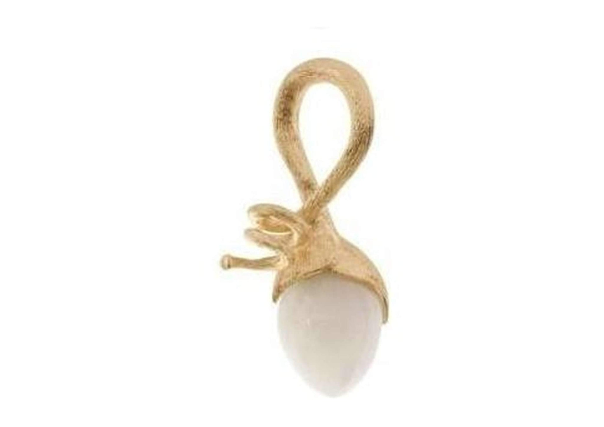 Lotus pendant in 18K yellow gold with white moonstone-by-Ole Lynggaard-from official stockist-Jens Hansen