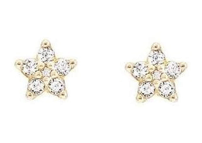 Shooting Stars earrings in 18K yellow gold with pavé and diamonds TW.VS