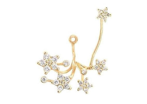 Shooting Stars pendant for earring in 18K yellow gold with pavé and diamonds TW.VS