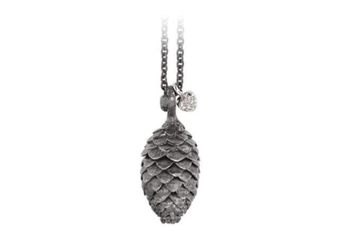 Silver Forest pendant in gold and silver and diamonds TW.VS-by-Ole Lynggaard-from official stockist-Jens Hansen