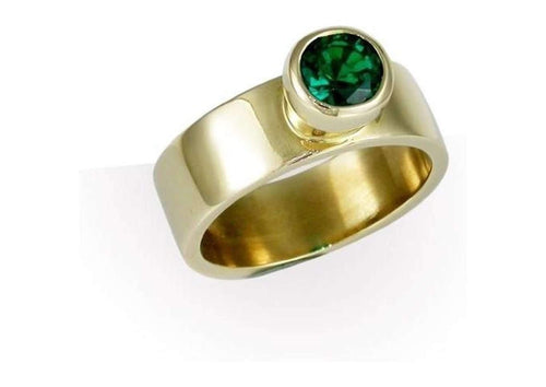 9ct Gold & Biron Emerald   - Jens Hansen