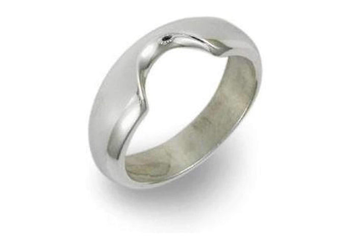 Silver Shaped Ring   - Jens Hansen