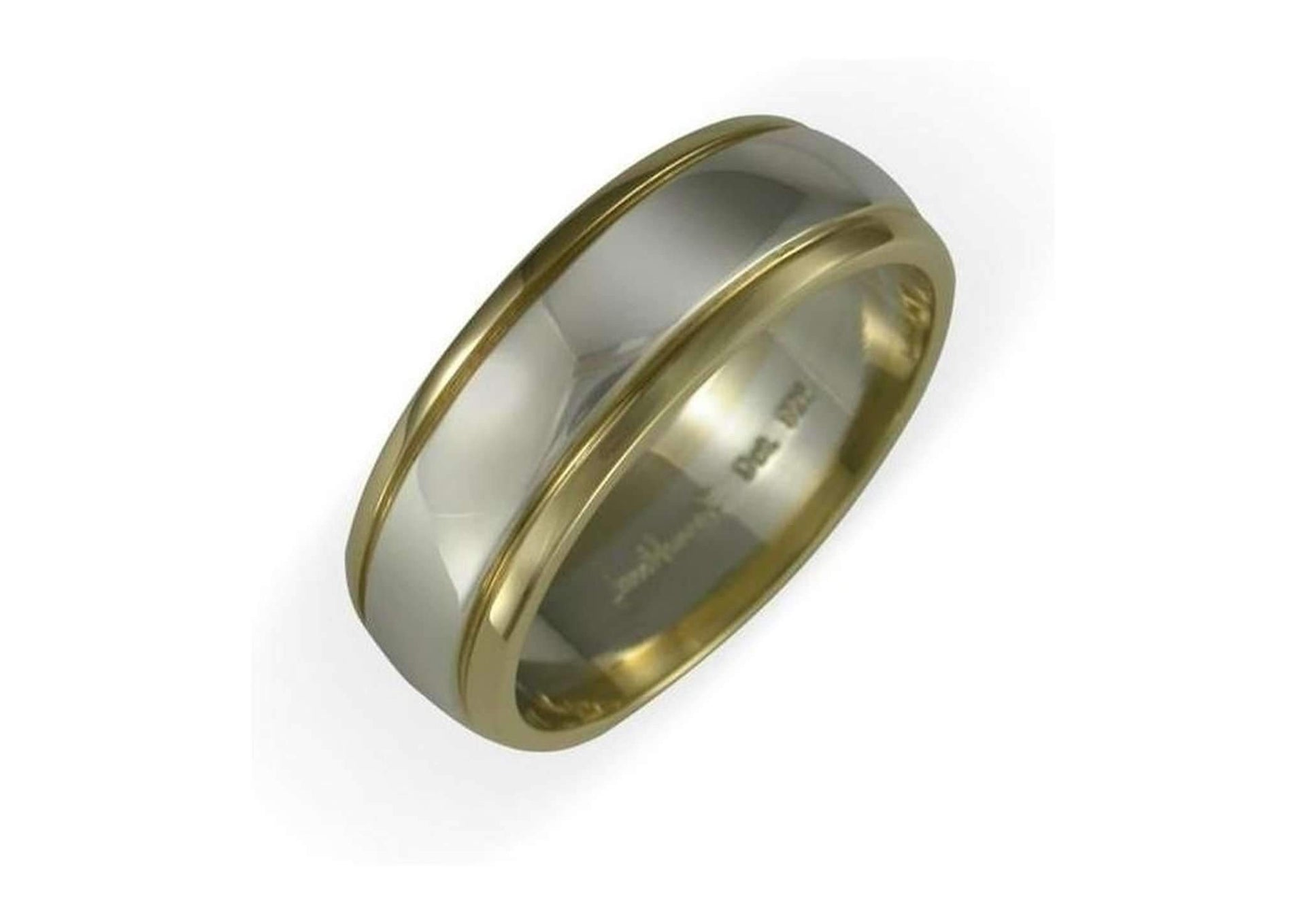 18ct & Platinum Wedding Ring   - Jens Hansen