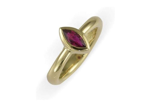 18ct & Marquise Ruby Ring   - Jens Hansen