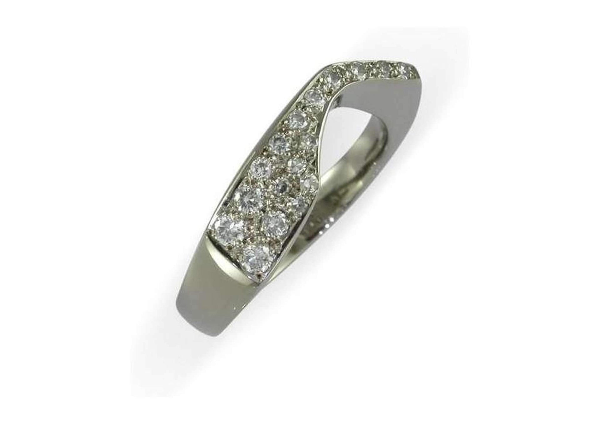 Platinum & Pave set diamond Ring   - Jens Hansen