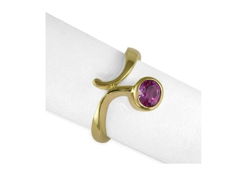 9ct Gold & Pink Tourmaline Ring   - Jens Hansen