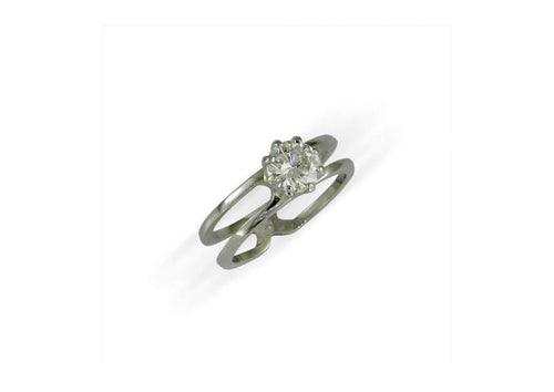 Platinum & Diamond Solitaire Ring   - Jens Hansen
