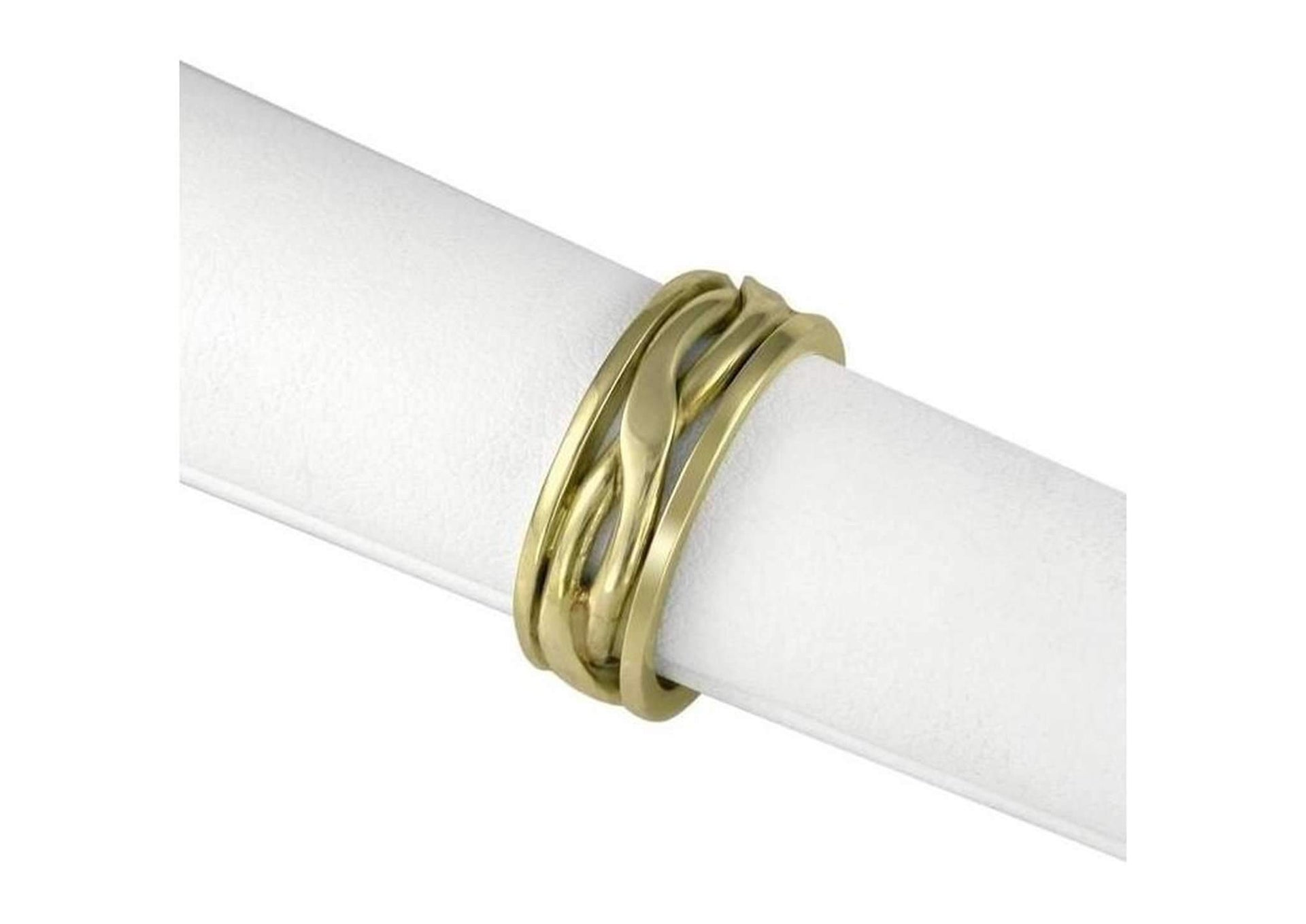 18ct Gold Crossover band   - Jens Hansen