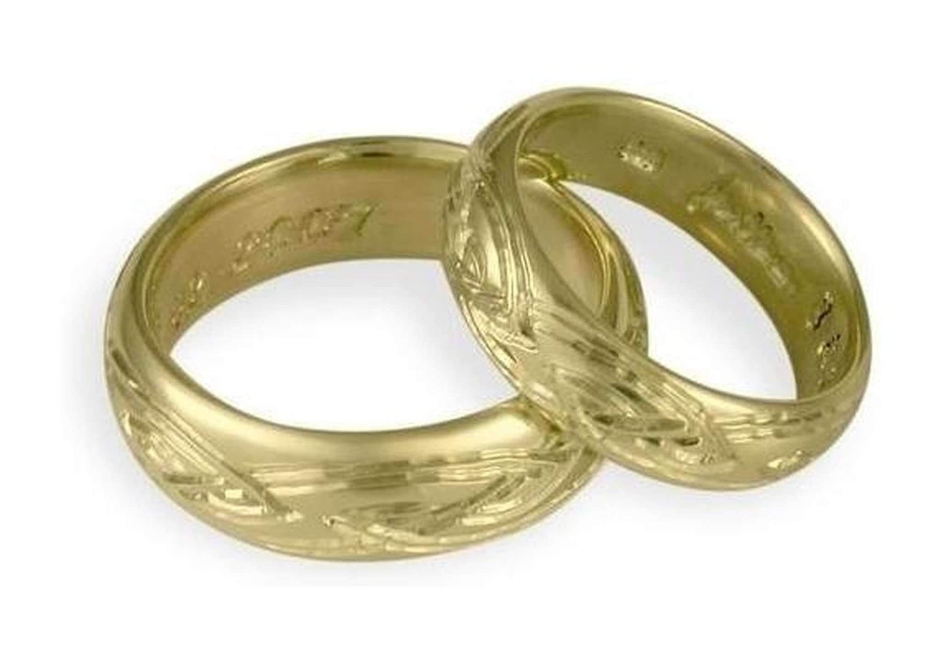 Custom Engraved wedding band set   - Jens Hansen