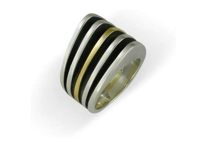Sterling Silver & 9ct Gold Ring   - Jens Hansen