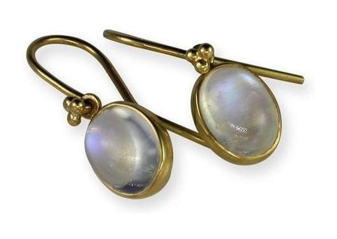 22ct Moonstone Earrings   - Jens Hansen