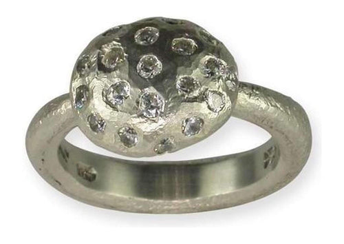 Palladium Ring with Diamonds   - Jens Hansen - 1