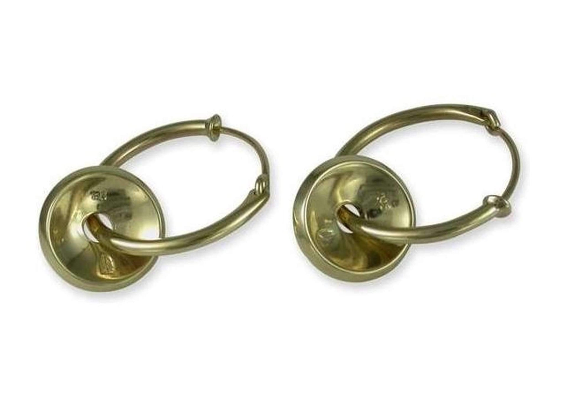 18ct Gold Domed Disc Earrings   - Jens Hansen