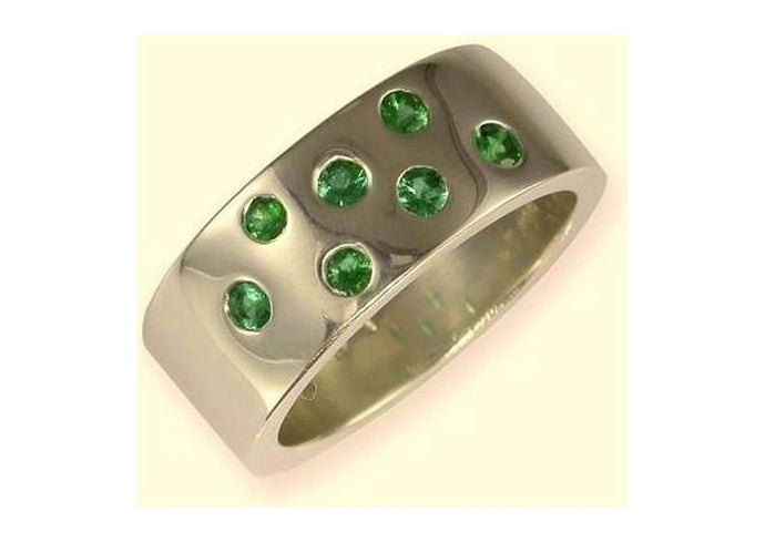 18ct White gold & Emeralds   - Jens Hansen