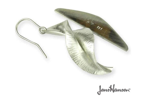 Pure Silver Spring Leaf Earrings   - Jens Hansen