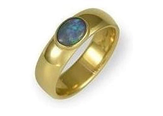 14ct Gold Black Opal Ring.   - Jens Hansen