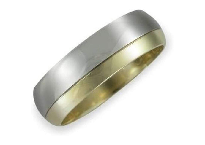 Wedding band 2/3 White gold 1/3 Yellow   - Jens Hansen