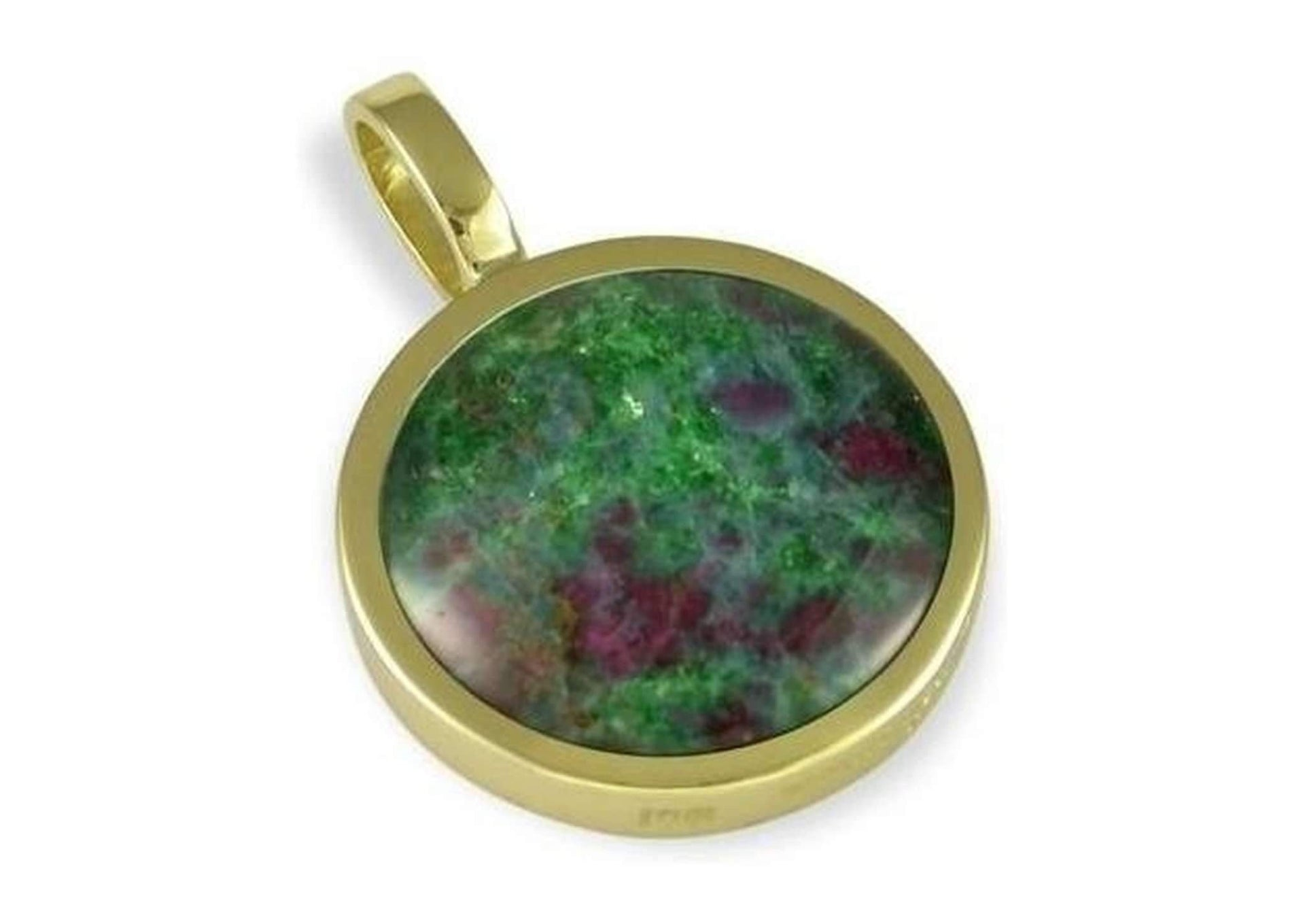 14ct yellow gold pendant with New Zealand RubyRock   - Jens Hansen