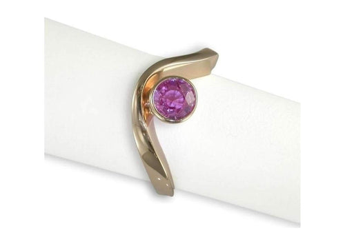 Rose gold and pink sapphire ring   - Jens Hansen