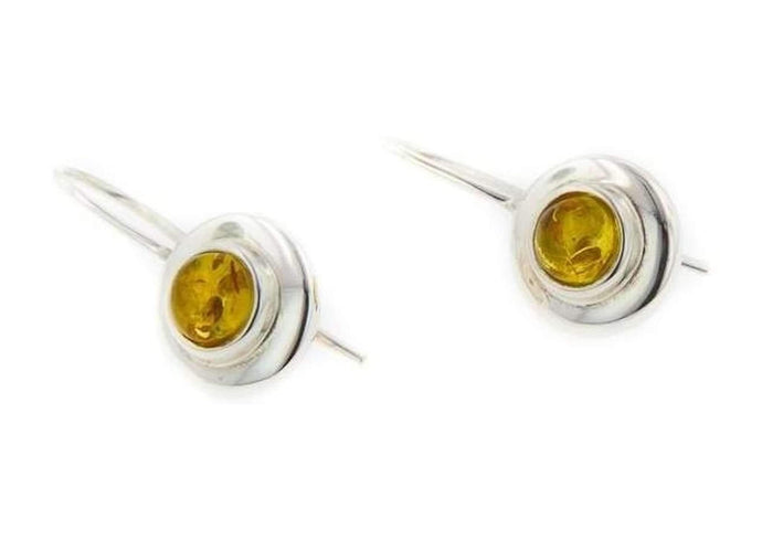 Sterling Silver & Amber Earrings   - Jens Hansen