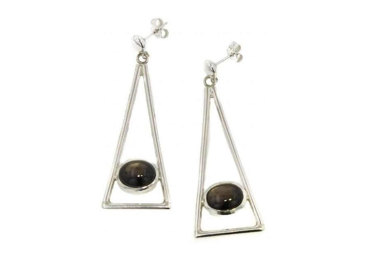 2012 Legacy Sterling Silver and Star Sapphire Earrings