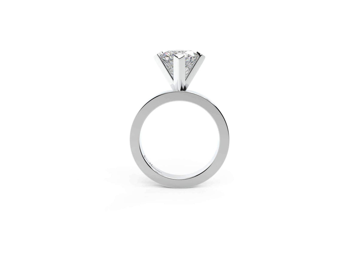The Jens Hansen Solitaire, White Gold & Platinum
