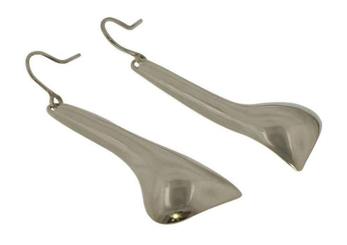 Freeform Shape Sterling Silver Hook Earrings   - Jens Hansen