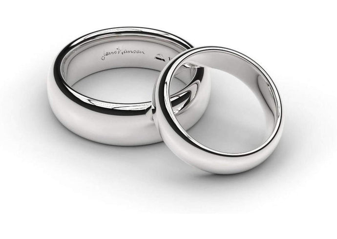 White Gold, Platinum & Palladium Replica Rings Set   - Jens Hansen