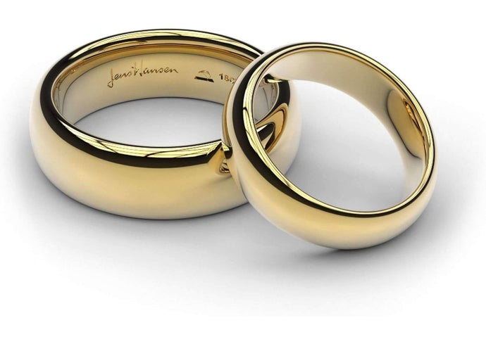 Yellow Gold Replica Rings Set   - Jens Hansen