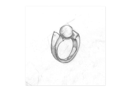 14ct Fresh Water Pearl Ring Design   - Jens Hansen - 2