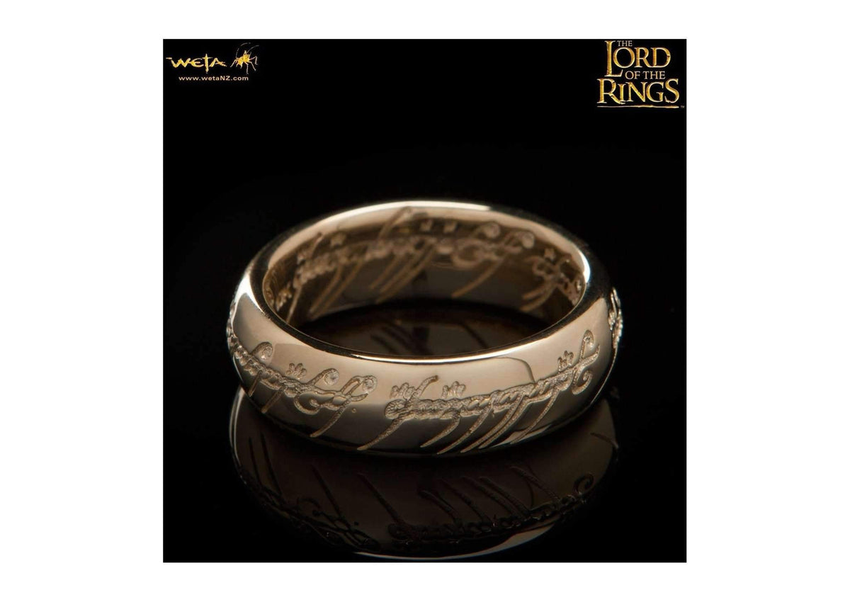 Gollum Ring : The One Ring - 10K Solid Gold (with Elvish Runes)