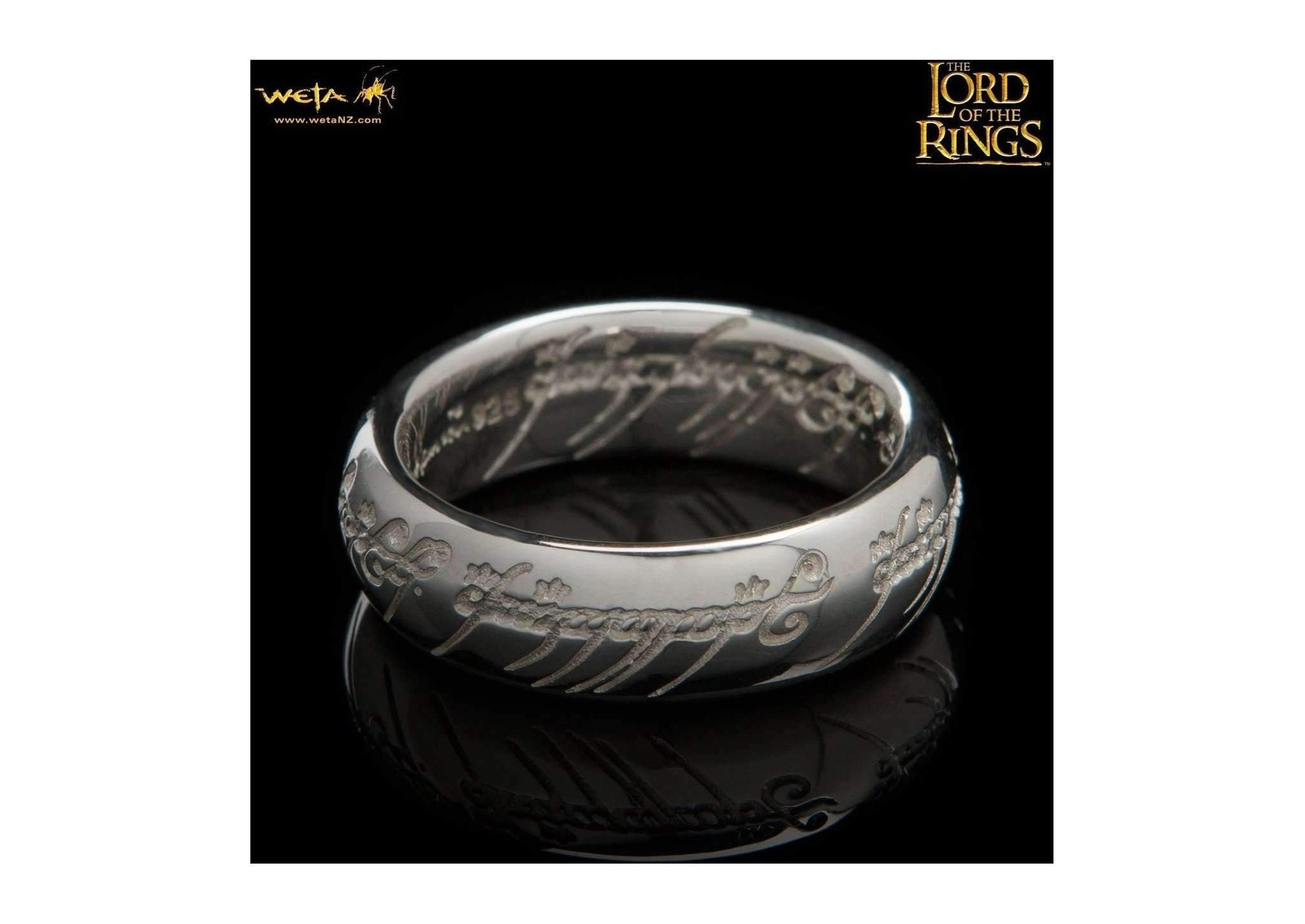 Bilbo Ring : The One Ring - Sterling Silver (with Elvish Runes)