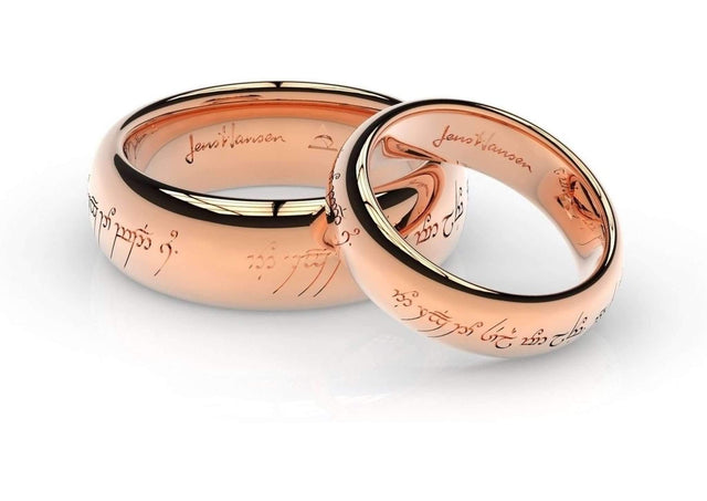 Elvish Love Ring Set in Red Gold   - Jens Hansen