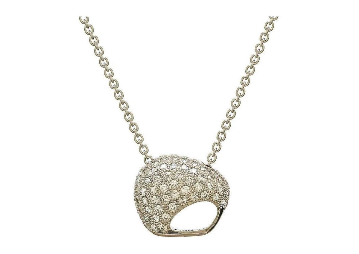 The Golden Kiwi, White Gold with Diamonds