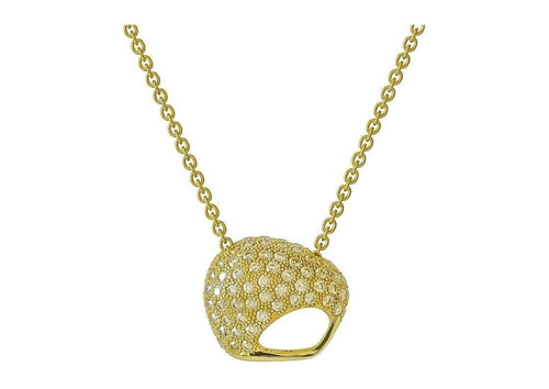 The Golden Kiwi, Yellow Gold with Diamonds