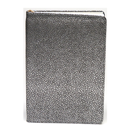 Metallic Pebble Silver Journal