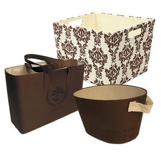 Brown Damask Set