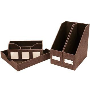 Brown Desk Set