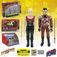 "Flash Gordon & Ming Hawk City Scene 3 3/4"" Set - SDCC Ex"