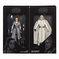 "Star Wars: The Black Series 6"" The Last Jedi Luke & Rey"