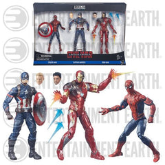 Civil War Marvel Legends Spider-Man, Capt America, and IronMan Set