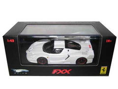 HotWheels Elite 1:43 Ferrari FXX, White Mica , Black/Red Rims