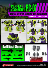 PE PC-07 Upgrade kit CW  Devastator bots elbows & guns