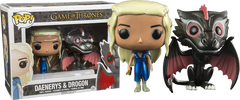 Drogon and Mhysa Daenerys Metallic Pop! Vinyl Figures 2-Pack