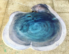 Coffee Table Blue Dolphin Metallic