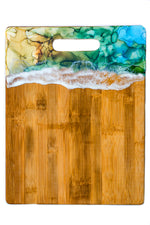 Hand Painted Resin Cutting Board or Charcuterie.