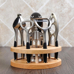 6-Piece Kitchen Tools and Wood Stand.