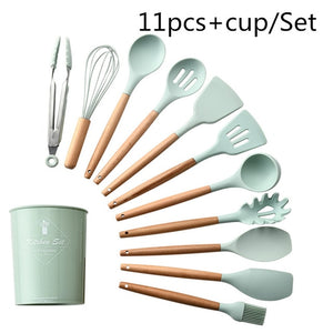 Tribe Silicone Kitchenware Cooking Utensils with Storage Box