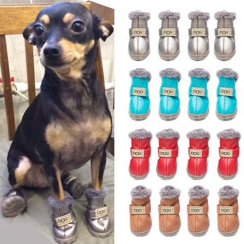 Leather Dog Shoes